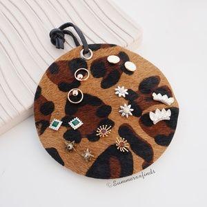 Lucky Brand Leopard Stud Earring Set